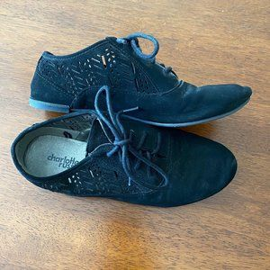 Charlotte Russe Size 7 Suede Oxfords